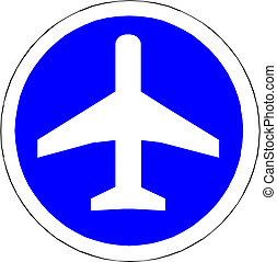 Illustration of airplane icon