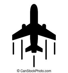 airplane icon on white background