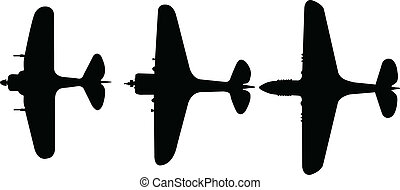 airplanes collection - vector