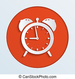 alarm clock - illustration of alarm clock ringing