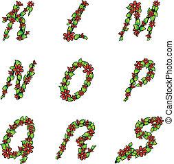 Illustration of alphabet set