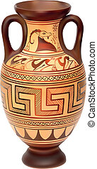 Amphora - Illustration of Amphora over white background
