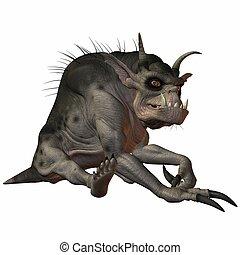 Fantasy Monster - Illustration of an 3D Fantasy Monster