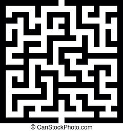 illustration of an abstract vector maze, eps 8 vector