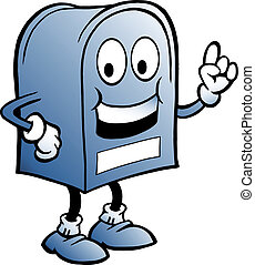 illustration of an blue Mailbox