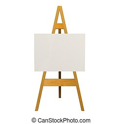 easel - Illustration of an easel over a white background
