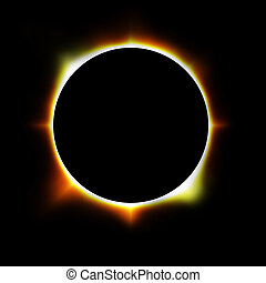 eclipse - illustration of an eclipse