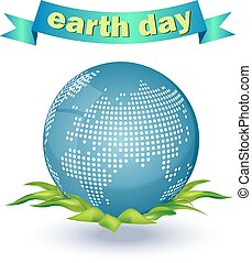 Illustration of an eco-friendly green earth design isolated on a white background.
