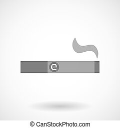 Illustration of an electronic cigarette - Isolated vector ...