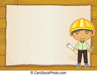 an engineer boy - illustration of an engineer boy on a ...