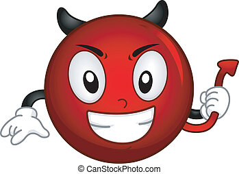 Illustration of an Evil Smiley