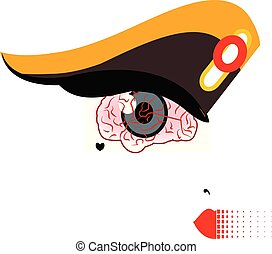 illustration of an eye in form of a brain