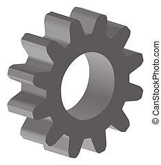 gear - illustration of an gear; 3D view
