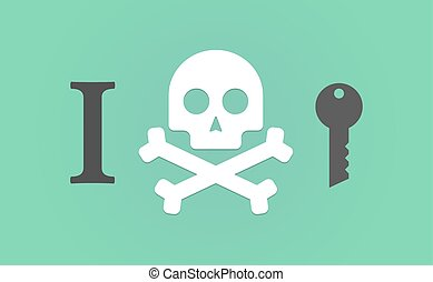 """""""I don't like"""" hieroglyph with a key"""