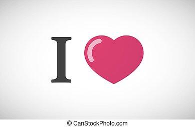 """I love"" hieroglyph"
