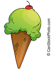an Icecream - illustration of an Icecream on a white ...