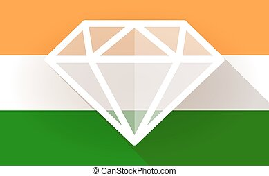 India flag icon with a diamond