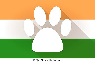 India flag icon with a footprint
