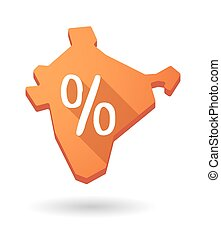 India map icon with a discount sign