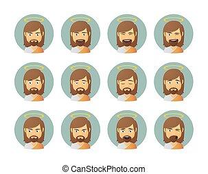 Jesus avatar expression set