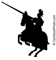 Illustration of an isolated Knight on horseback