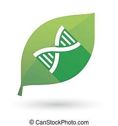 leaf icon with a DNA sign