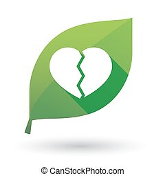 leaf icon with a heart