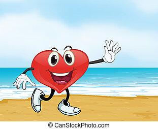 an ocean and a heart