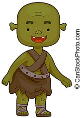 Illustration of an Ogre Flashing a Toothy Smile