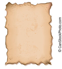 torn paper - illustration of an old torn paper with grainy ...