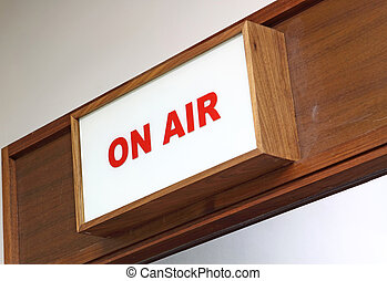 Illustration of an 'On Air' sign
