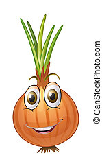 an onion - illustration of an onion on a white background