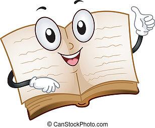 Book Mascot - Illustration of an Open Book Mascot