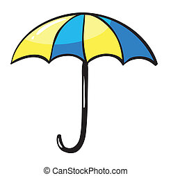 umbrella - illustration of an umbrella on a white background
