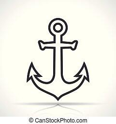 anchor icon on white background