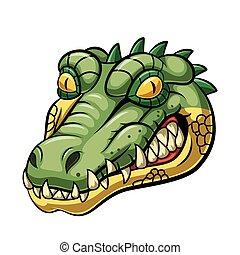 Angry alligator head mascot design