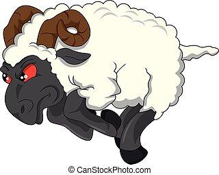 angry goat cartoon