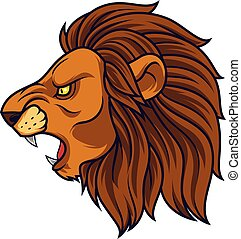 Angry lion head mascot