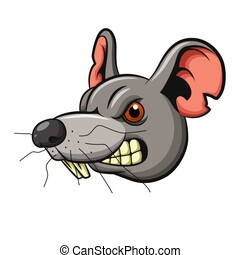 Angry mouse head mascot design