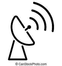 antenna icon on white background