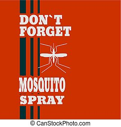 Illustration of anti-mosquito spray label