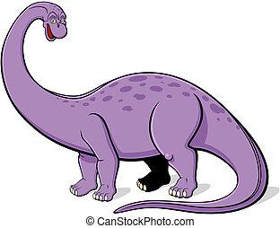 Apatosaurus for children - Illustration of Apatosaurus for...