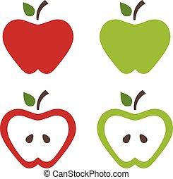 Illustration of apples .Vector