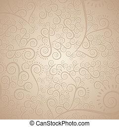 illustration of arabesque pattern in beige tones, vector illustration