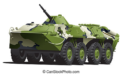 armored troop-carrier. - illustration of armored...