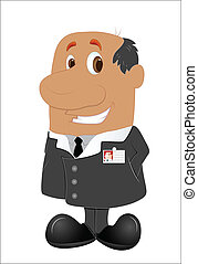 Office Employer - Illustration of Asian Office Employer...