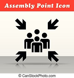 assembly point vector icon design