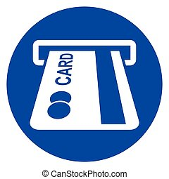 atm circle blue icon