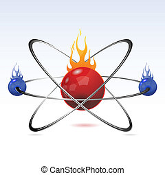 atom with fire