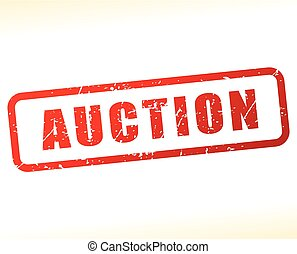 auction stamp on white background